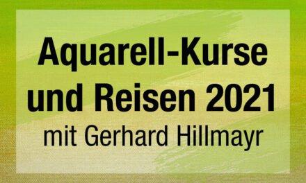 Aquarell-Kurse und Reisen 2021