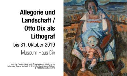 Allegorie und Landschaft / Otto Dix als Lithograf