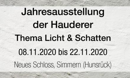 Jahresausstellung der Hauderer, Thema Licht und Schatten